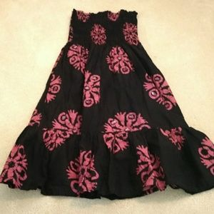 NWOT Black and Pink Dress